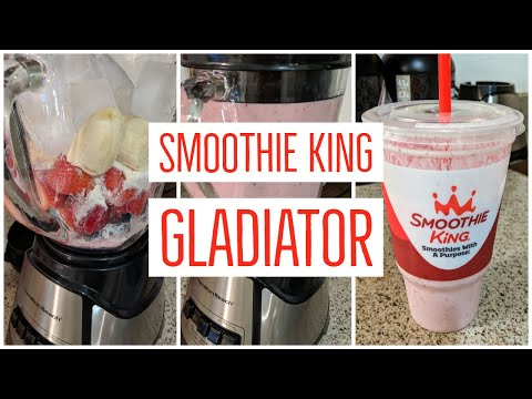 How To Make A Smoothie King Gladiator Smoothie At Home