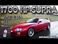 Toyota Supra 1700hp BIG Single Turbo vs GTR r35 vs r1 vs r6(antilag, 2 step,Straight from