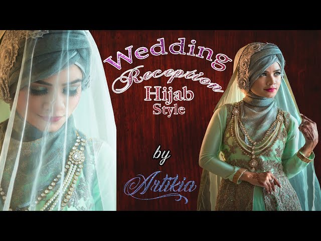 Wedding Reception Hijab Tutorial in Unique Turban Style with Gown & Jewellery || Artikia ||