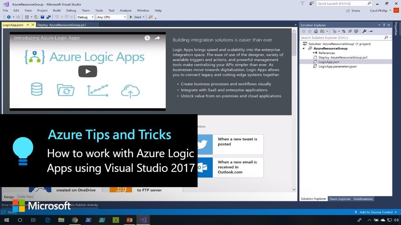 9ba54e9b57d9e How to work with Azure Logic App using Visual Studio 2017