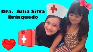 Julia Silva cuidando da Lulu
