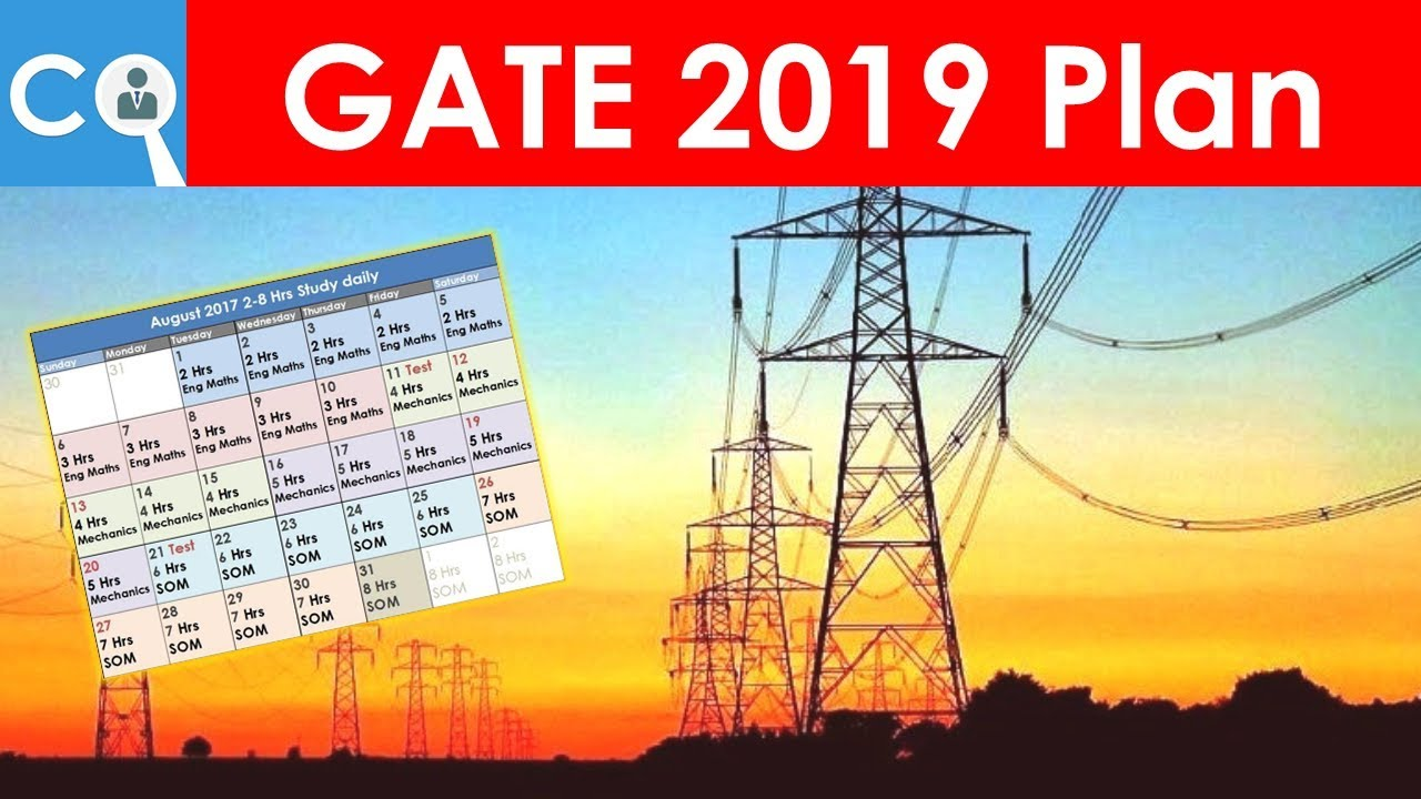 Gate 2019 Plan For Electrical Engineering Batman Youtube