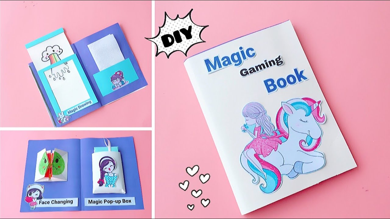 5 Easy Paper Magic in a book / DIY Gaming Book Part-4 / How to make paper Games