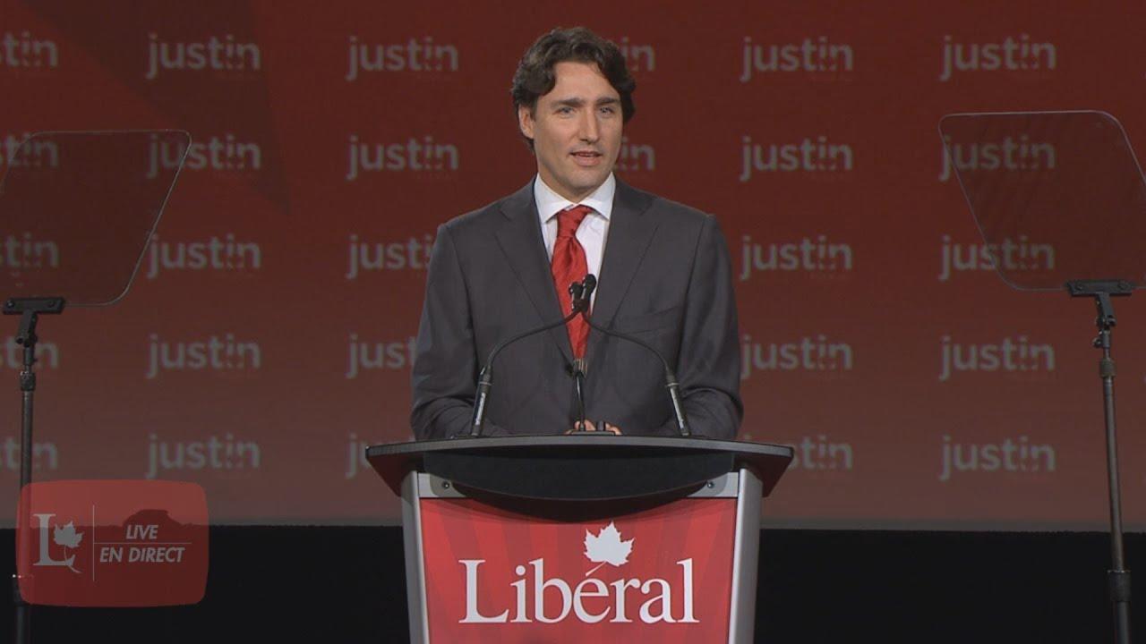 Justin Trudeaus Acceptance Speech Discours Dacceptation De Trudeau