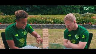 Callum Robinson & Daryl Horgan take on the Jenga Challenge