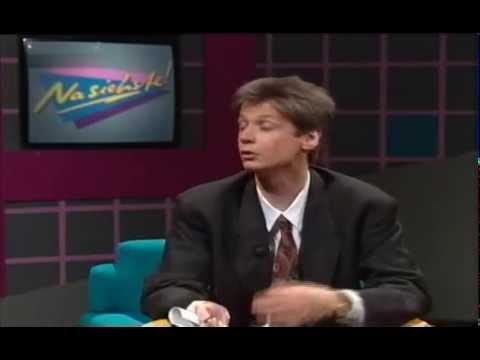 Günther Jauch im Gespräch mit Otto Waalkes 1989