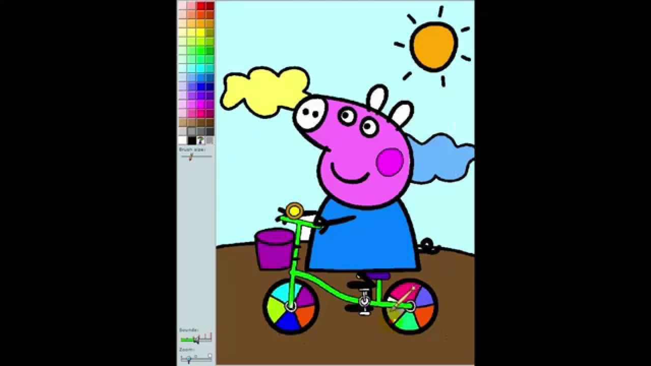 Peppa Pig Paint And Colour Games - Free Games For Kids