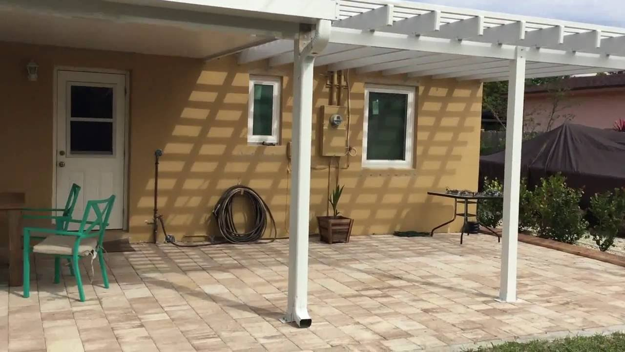 aluminum patio coverpatio roof w pergola design shade trellis walkthrough venetian builders youtube - Aluminum Patio Roof