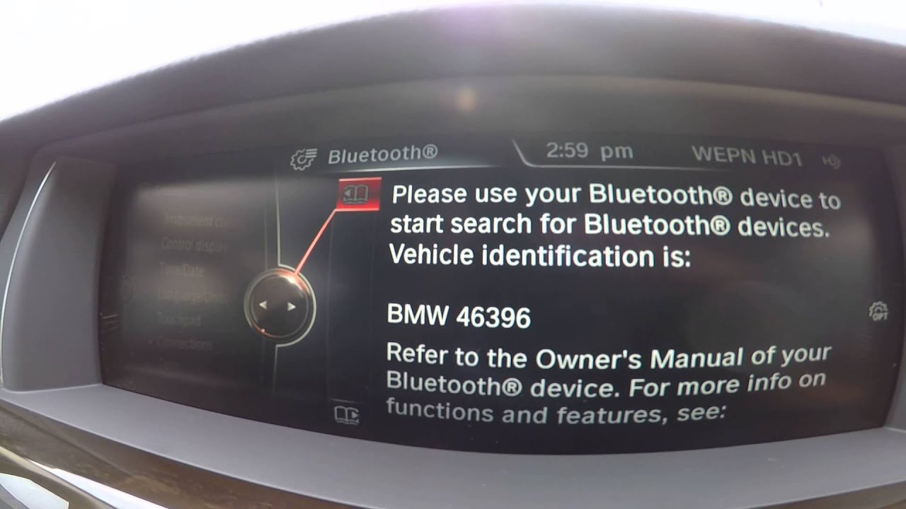 How to pair bluetooth phone 2015 bmw android