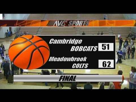 Cambridge @ Meadowbrook Boys Basketball 1/23/18