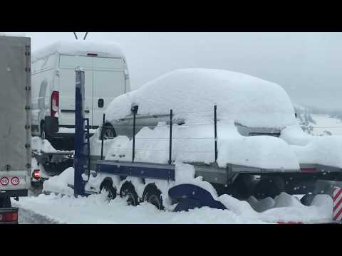 Winter Storm Disaster on A22 Higway - Brenner - Feb 1, 2019