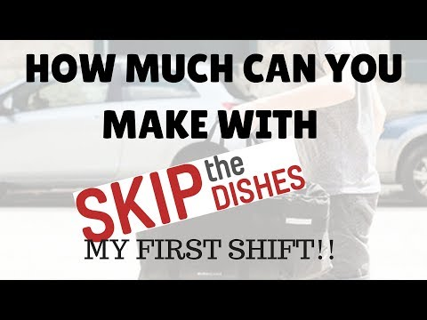 My First Shift With Skip The Dishes (And Setup)