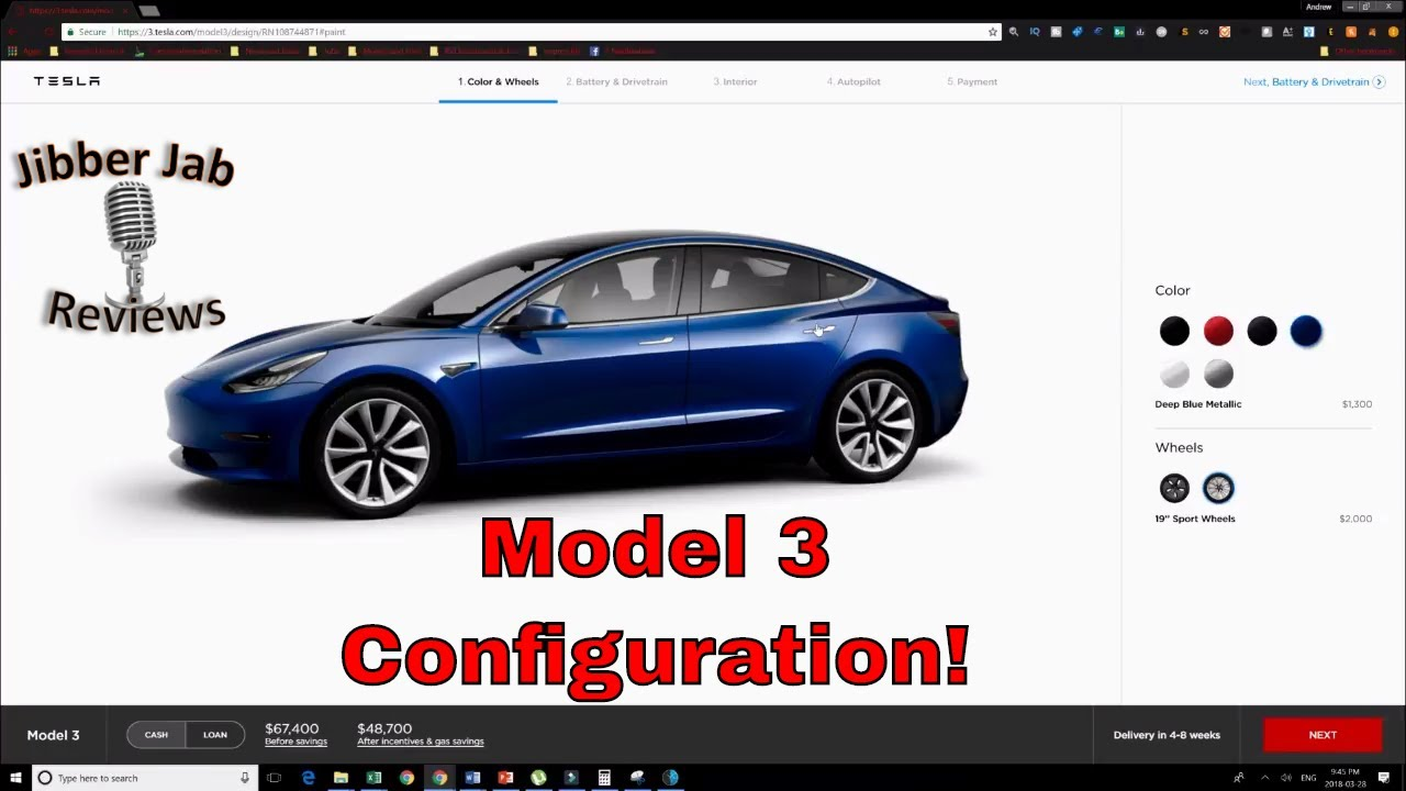 Tesla Model 3 Configuration Has Arrived Options And Prices Revealed Jibber Jab Reviews