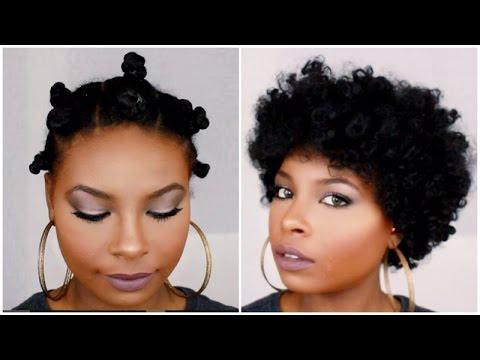 Bantu Knot Out Short Hair Sekoya Hicks Youtube
