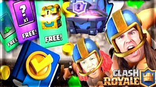 CLASH ROYALE!! -COMPLETE MISSIONS FOR THE GIANT TRUNK!! CHEST OPENING!! 2v2 with YOU!! TOUCHDOWN!!