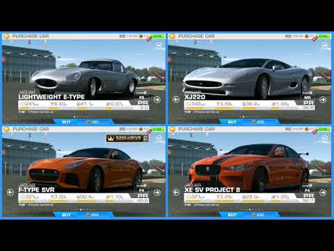 Real Racing 3 - All Cars Prices Til Version 7.3.0