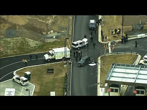 Shooting after vehicle rammed gate at Fort Meade