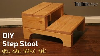 Learn how to use basic power tools with this perfect beginner and simple woodworking project. Make a step stool perfect for toddlers