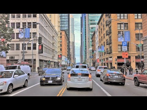Driving Downtown - San Francisco High Rise Hotspot 4K - USA