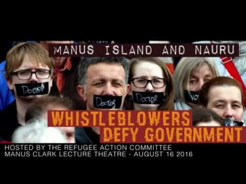 Whistleblowers Public Forum [2016]