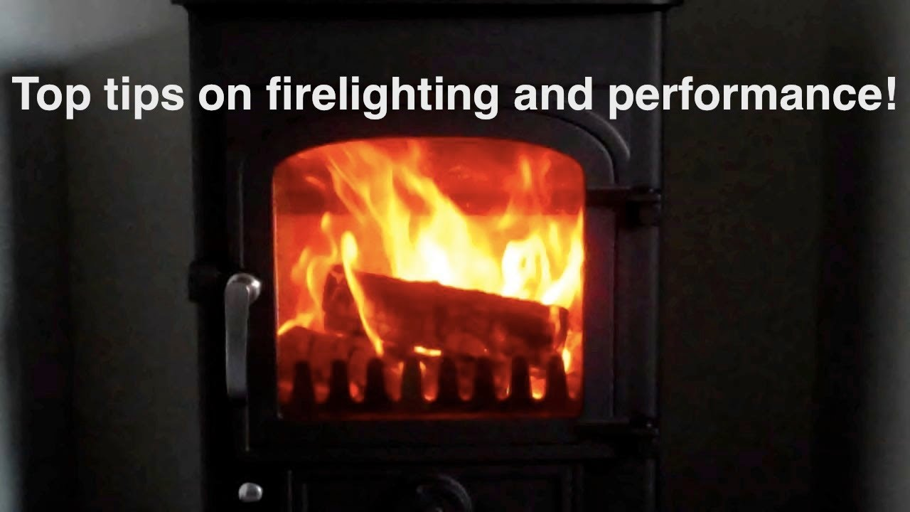 How to light the perfect fire in a wood burning stove! Using my ...