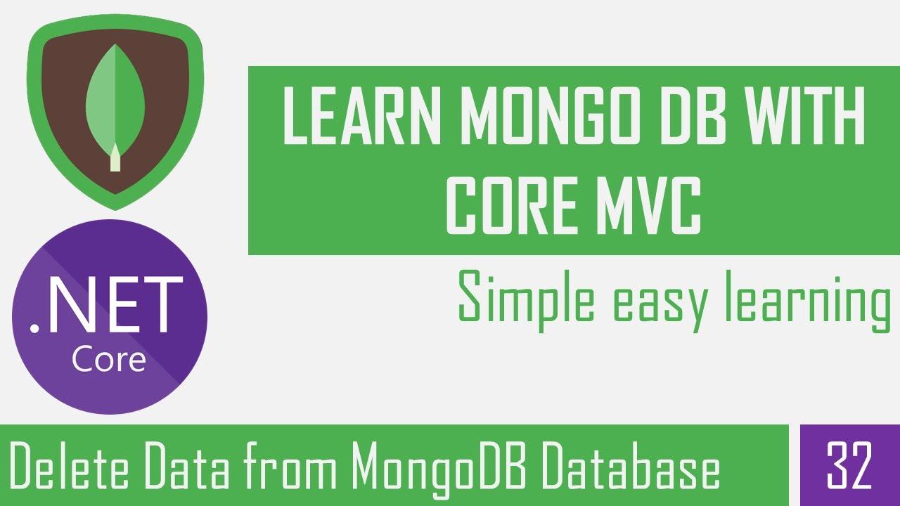 Delete data from MongoDB using Asp.Net Core 5 | MongoDB CRUD Operation | .NET 5