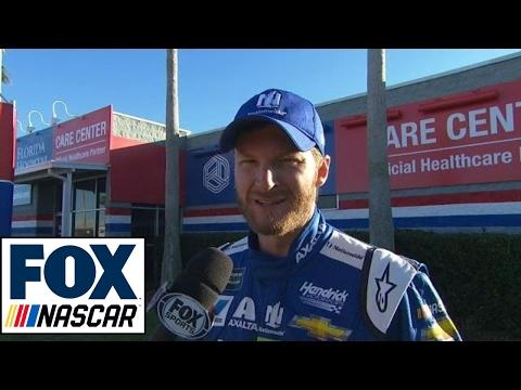 Dale Earnhardt Jr. Post Wreck Interview | 2017 DAYTONA 500 | FOX NASCAR