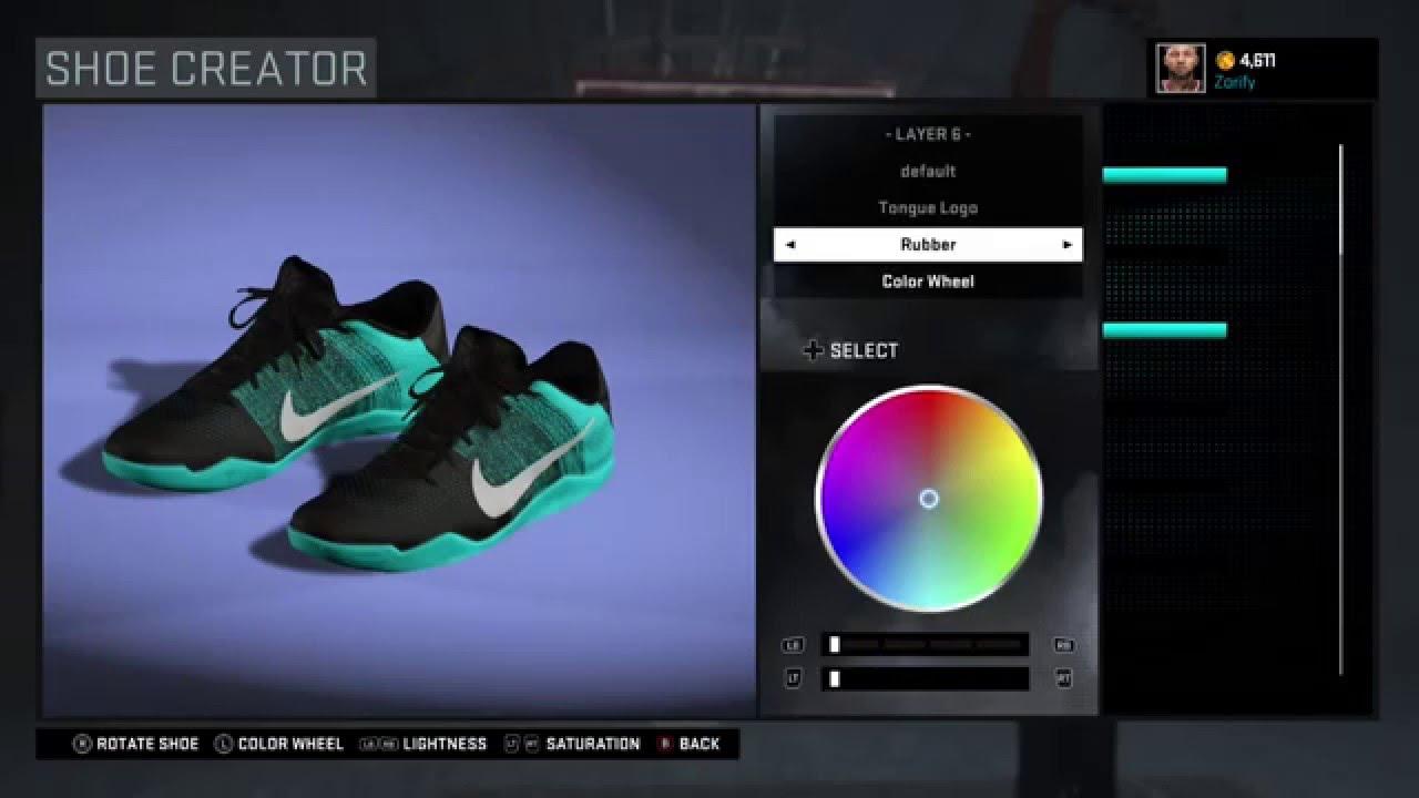 ... nba 2k16 shoe creator nike kobe 11 all star youtube