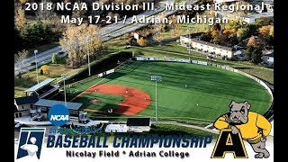 2018 NCAA Division III Baseball Mideast Regionals: La Roche vs. Adrian (Game Eight) thumbnail