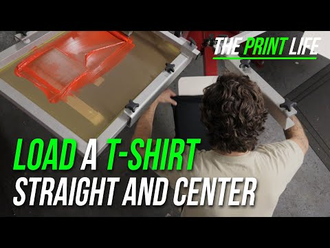 Screen Print Hacks And Tips | Load A T-shirt Straight And Center