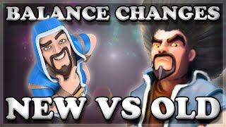 Balance Changes Old & New Comparison | Clash Royale 🍊