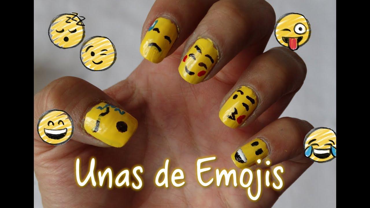 Uñas de Emojis   Fácil - YouTube