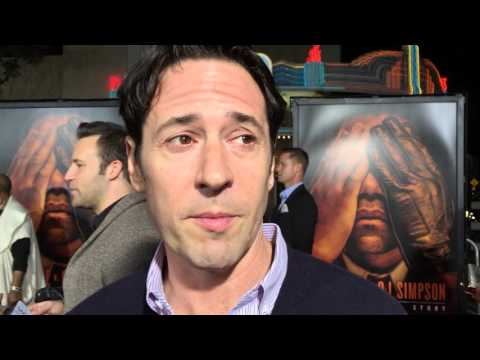 Rob Morrow chats on the red carpet for 'The People v. O.J. Simpson' premiere
