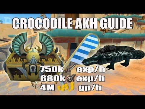 [Runescape 3] Crocodile Akh Slayer Guide | Soul Devourers | 750k Melee Exp/h | 680k Slayer exp/h
