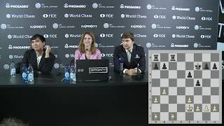 Round 13. Press conference with So and Karjakin
