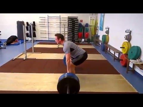 25 reps x 140 kg peso muerto ejercicio auxiliar