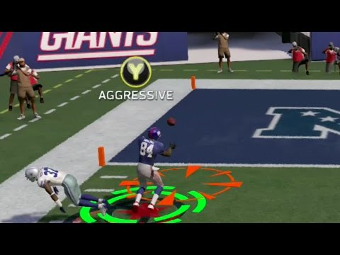 Legend Herman Moore Catches a Dropped Interception for a 40yd Touchdown!! Insane! Madden 17 Gameplay