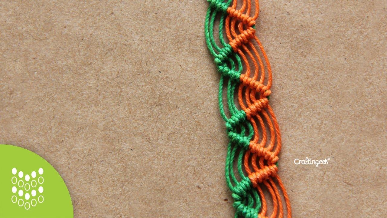 dc620ec63199 Pulsera Zig-zag de Macramé Cavandoli  Diseño sencillo. - YouTube