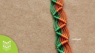 Pulsera Zig-zag de Macramé Cavandoli: Diseño sencillo. thumbnail