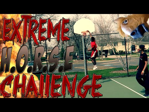EXTREME H.O.R.S.E CHALLENGE!!! BASKETBALL TRICK SHOTS ONLY!!!