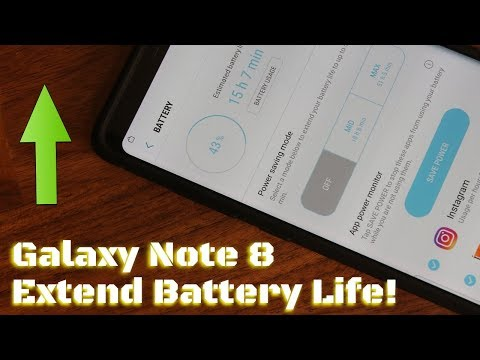 Samsung Galaxy Note 8 - 10 Tips to Dramatically Extend Battery Life