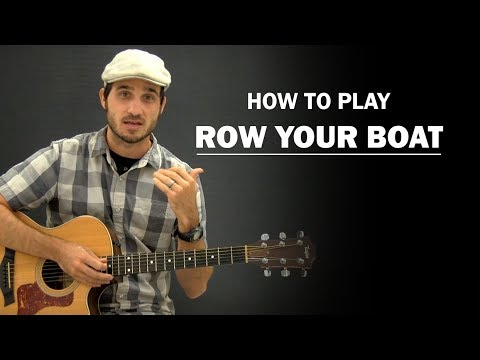 Row Row Row Your Boat | Beginner Guitar Lesson - YouTube