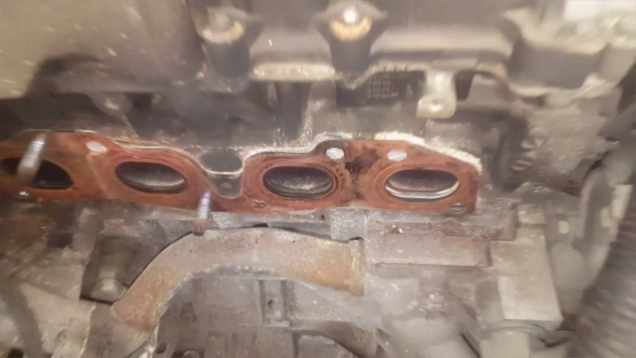 how to fix 2 5 Nissan exhaust manifold replacement