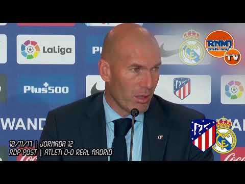 Atlético de Madrid 0-0 Real Madrid Rueda de prensa de Zidane (18/11/2017) | POST LIGA JORNADA 12