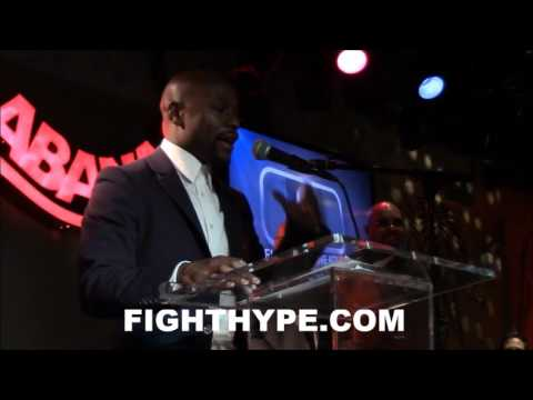 FLOYD MAYWEATHER'S FULL ACCEPTANCE SPEECH FOR THE 2015 BWAA FIGHTER OF THE YEAR AWARD