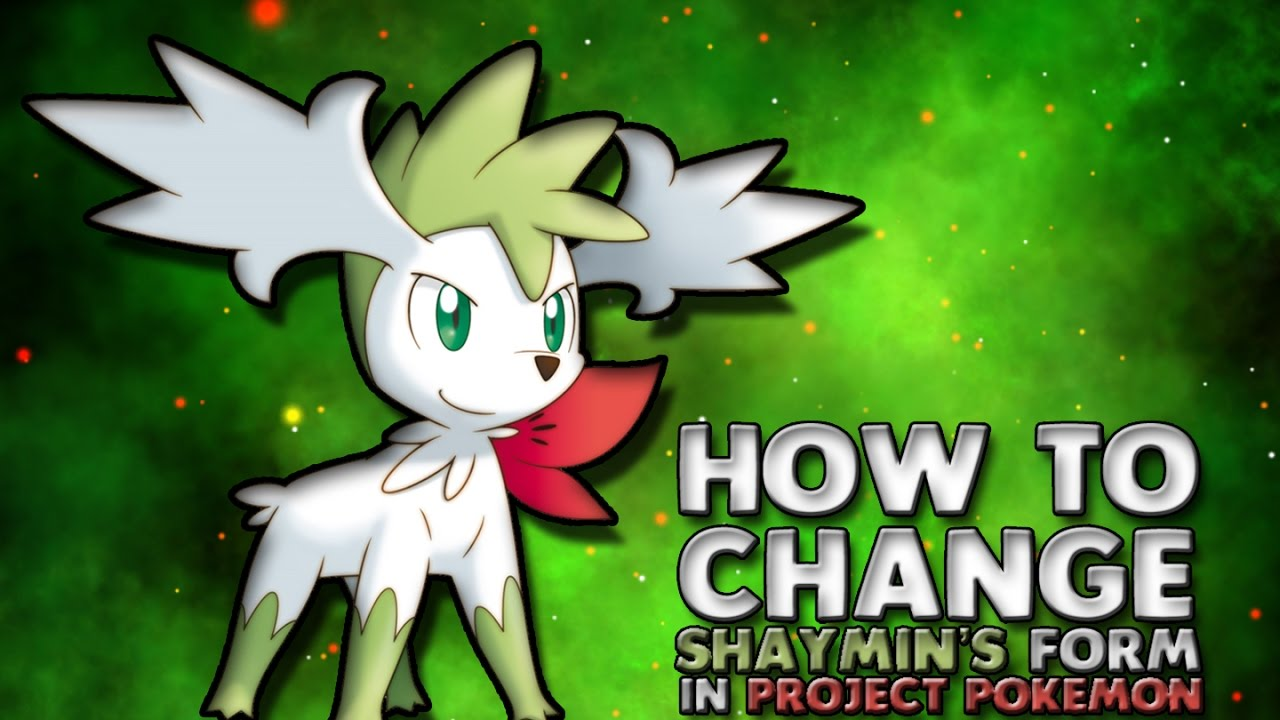 Project Pokemon : How to change Shaymin's form into Skyform ...