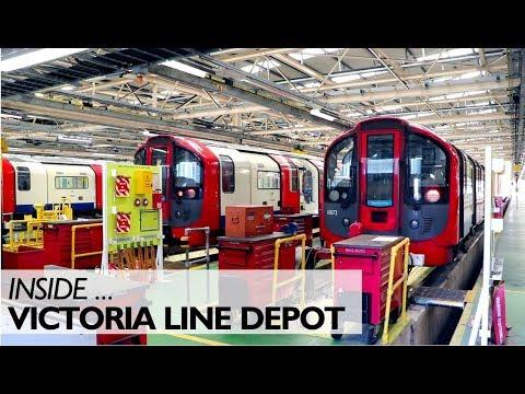 Inside The Victoria Line Depot