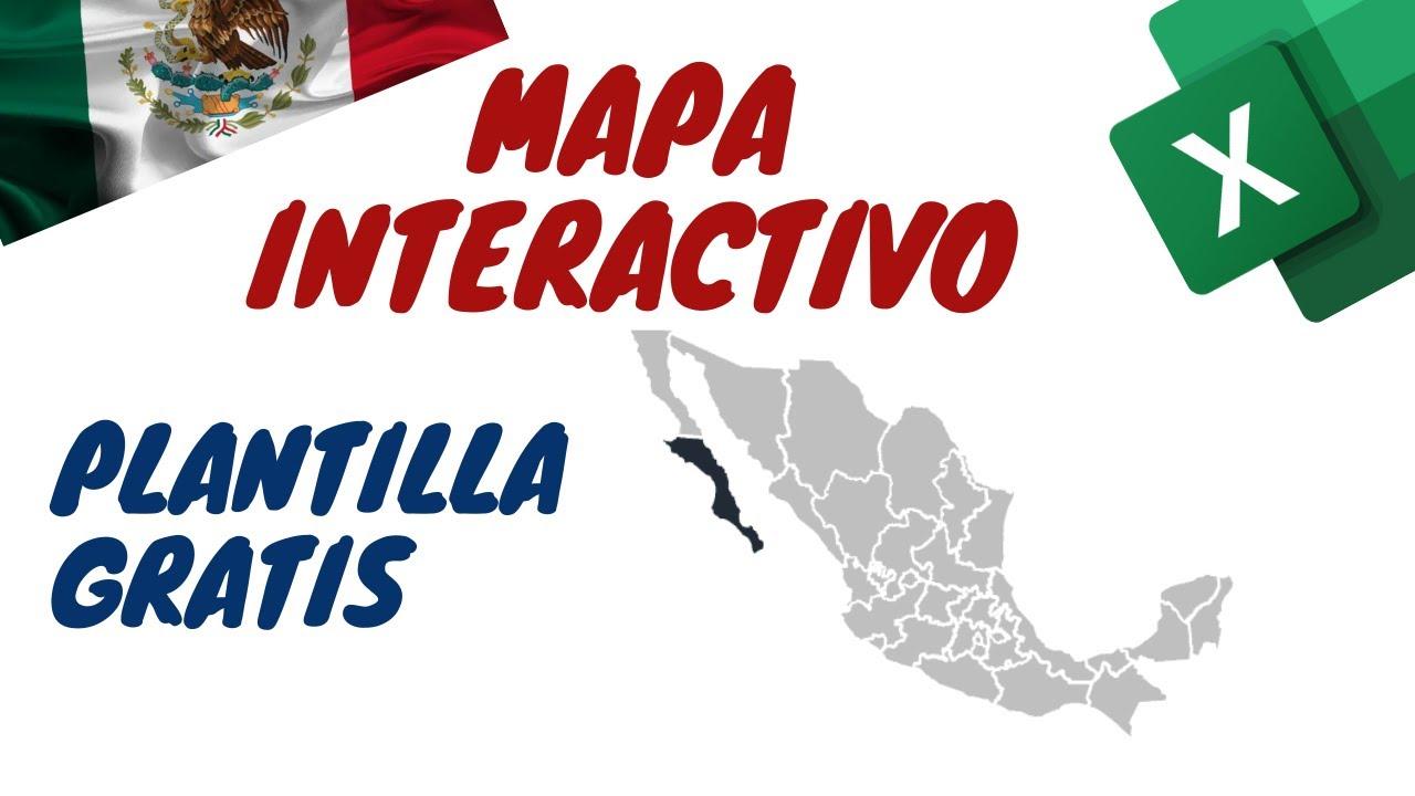 Mapa Interactivo de México - Detecta Provincia al Hacer Click Sobre el Mapa - Plantilla Descargable