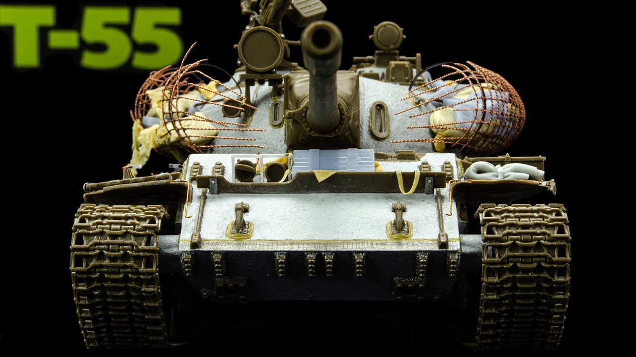 New T-55 From Tamiya Gets A Rebar Cage Armor Upgrade! (1/48 Scale)