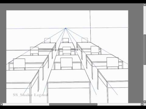 1 point Perspective Class room 001  YouTube